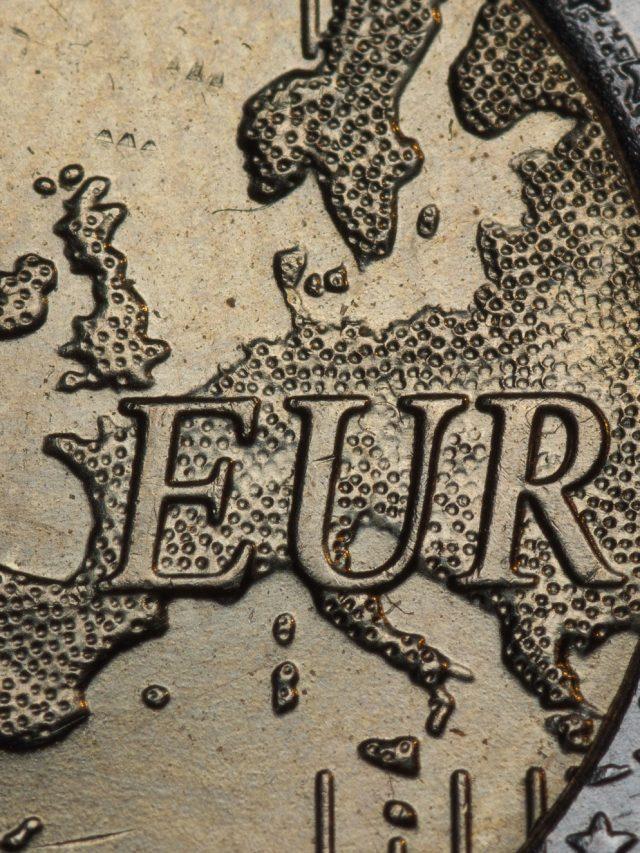 Detailansicht und Ausschnitt einer zwei Euro Münze