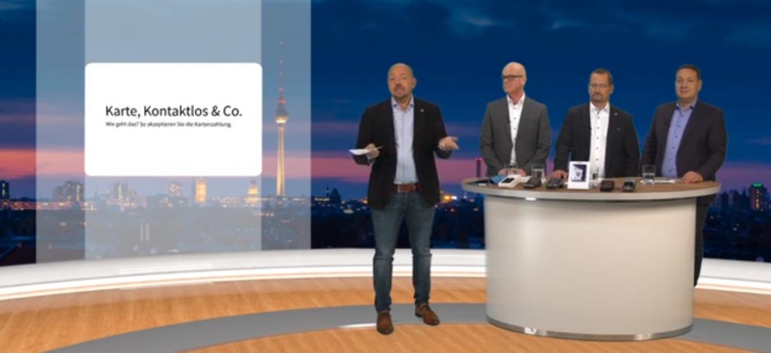 """Bild aus einer Fernsehsendung mit dem Thema """"KArte,Kontaktlos und Co."""
